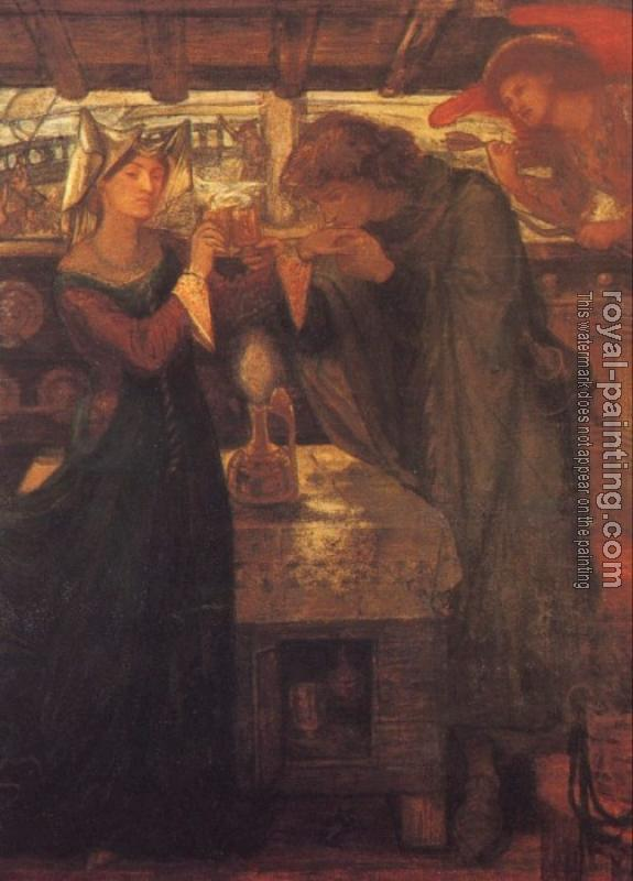 Dante Gabriel Rossetti : Tristram and Isolde Drinking the Love Potion