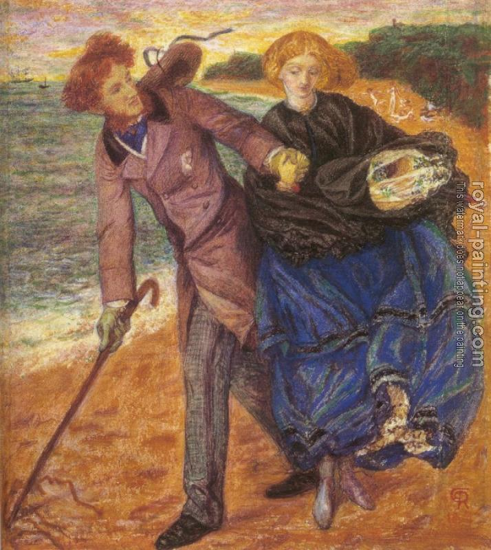 Dante Gabriel Rossetti : Writing on the Sand