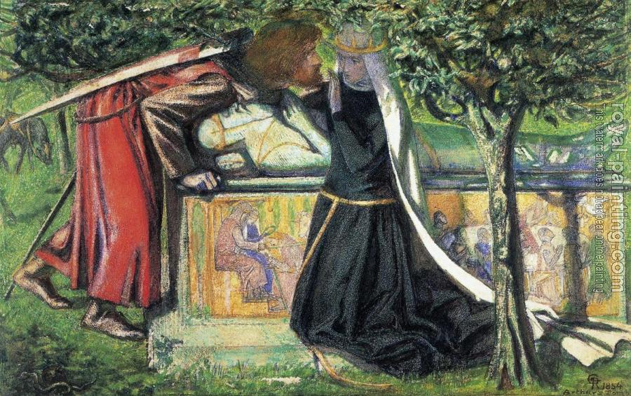 Dante Gabriel Rossetti : Arthur's Tomb, The Last Meeting of Lancelot and Guinevere