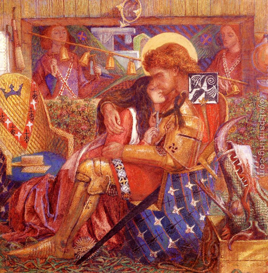 Dante Gabriel Rossetti : The Wedding of Saint George and the Princess Sabra