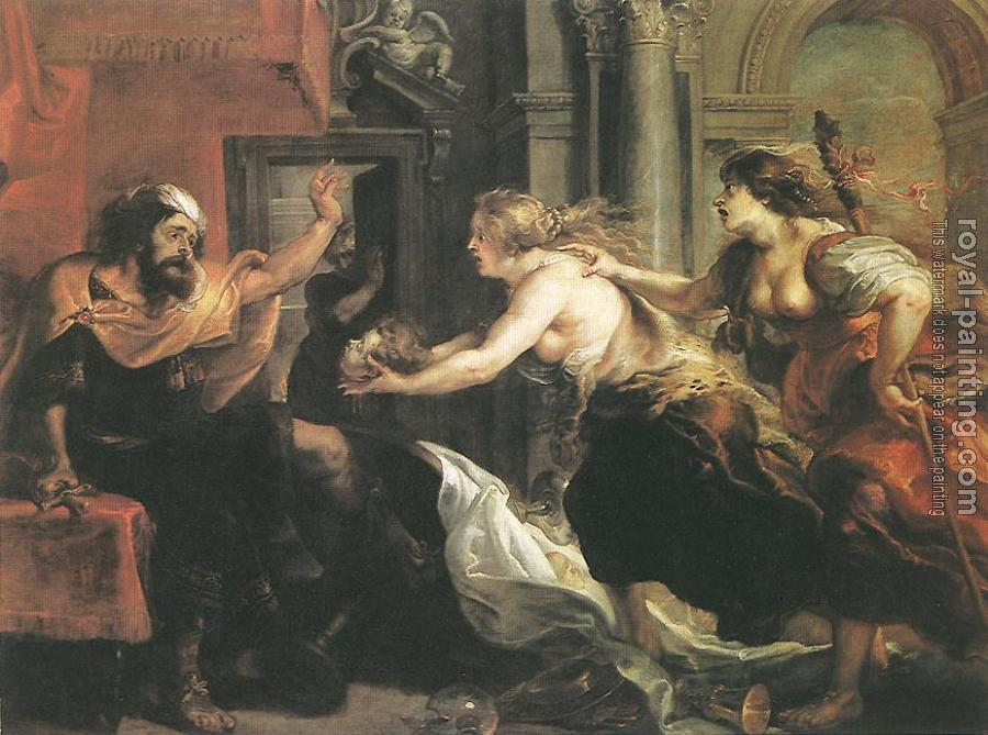 Peter Paul Rubens : Tereus Confronted with the Head of his Son Itylus