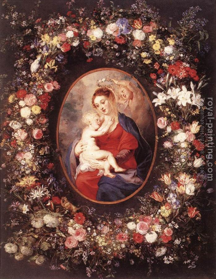 Peter Paul Rubens : The Virgin and Child in a Garland of Flower