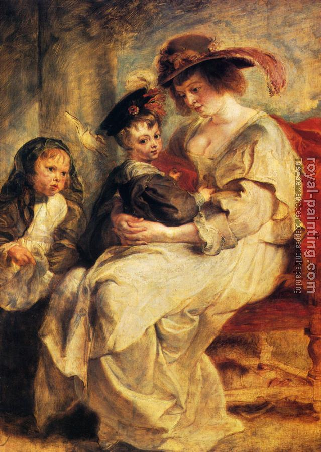 Peter Paul Rubens : Helene Fourment With Two Of Her Children, Claire-Jeanne And Francois