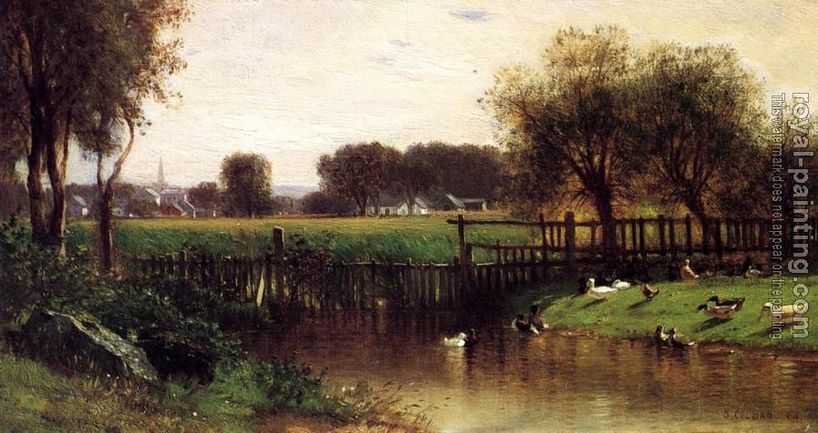 Samuel Colman : Ducks by a Pond