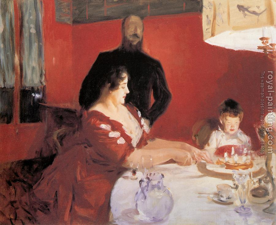 John Singer Sargent : Fete Familiale,The Birthday Party