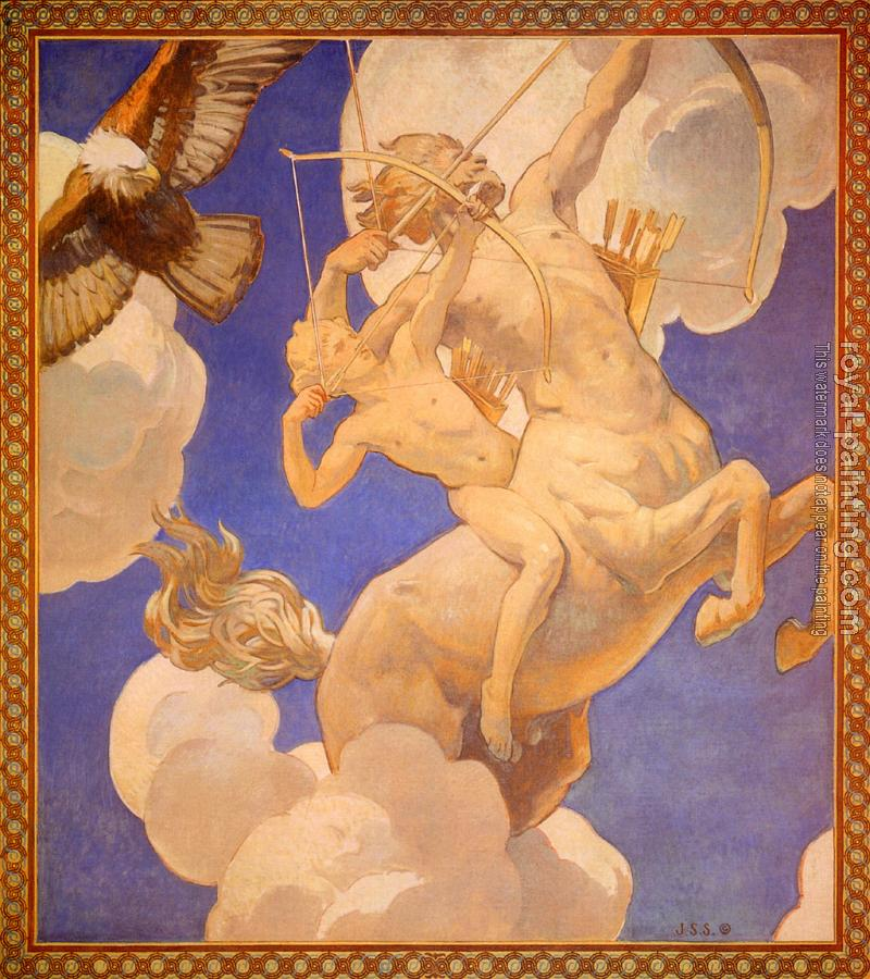 John Singer Sargent : Chiron and Achilles