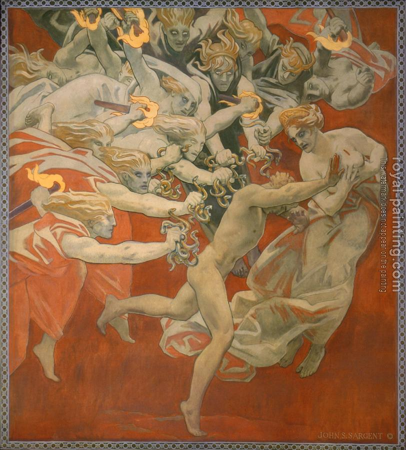 John Singer Sargent : Orestes Pursued by the Furies