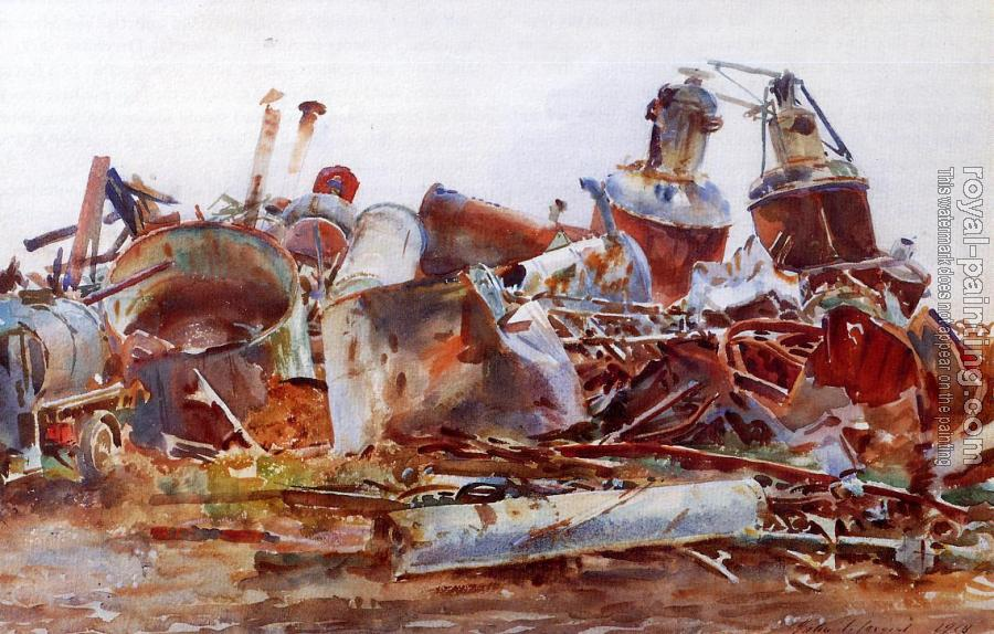 John Singer Sargent : The Wrecked Sugar Refinery
