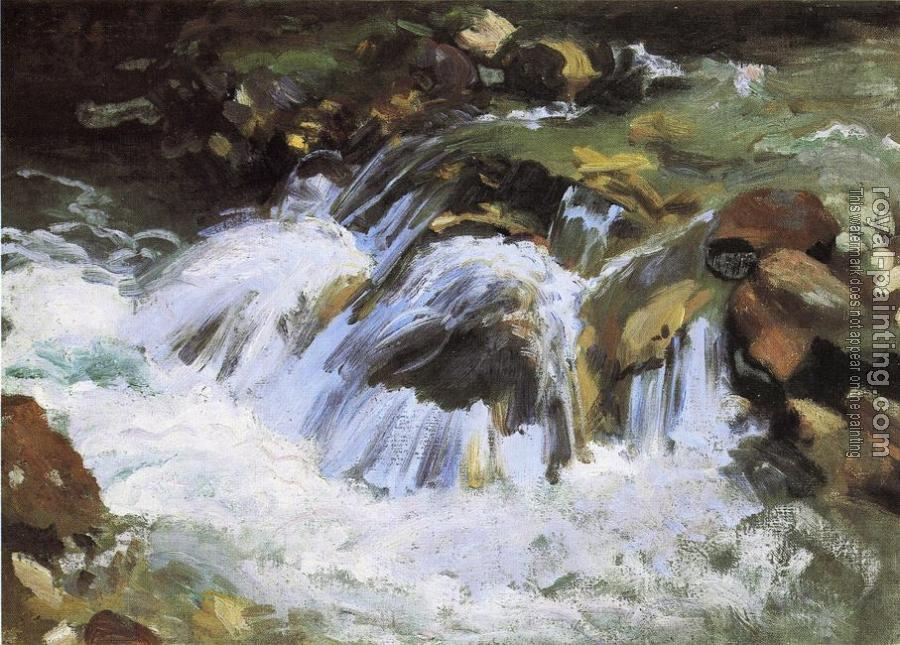 John Singer Sargent : A Mountain Stream, Tyrol