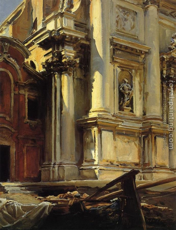 John Singer Sargent : Corner of the Church of St. Stae, Venice