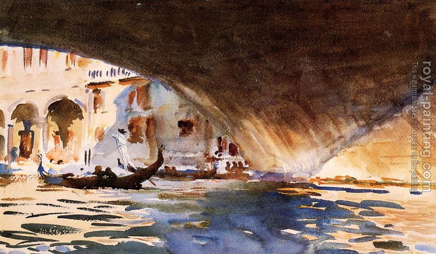 John Singer Sargent : Under the Rialto Bridge