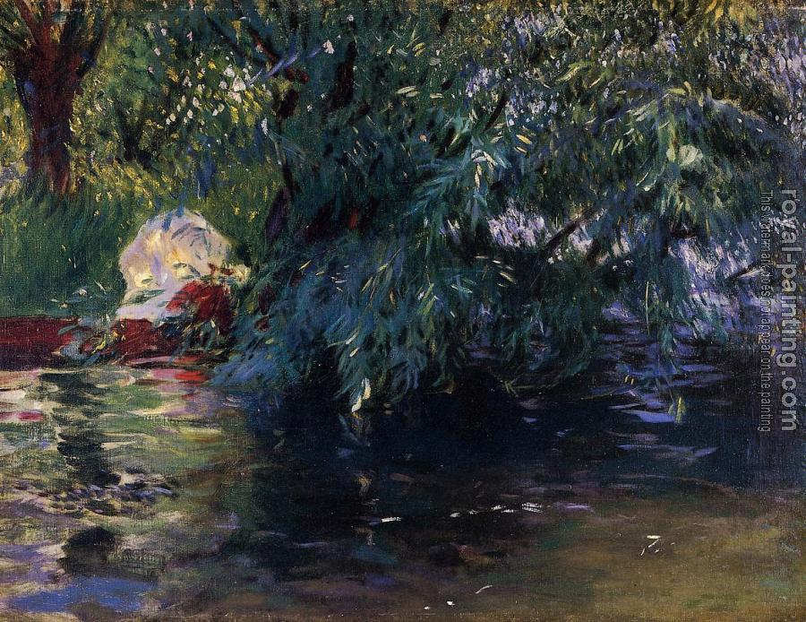 John Singer Sargent : A Backwater, Calcot Mill near Reading