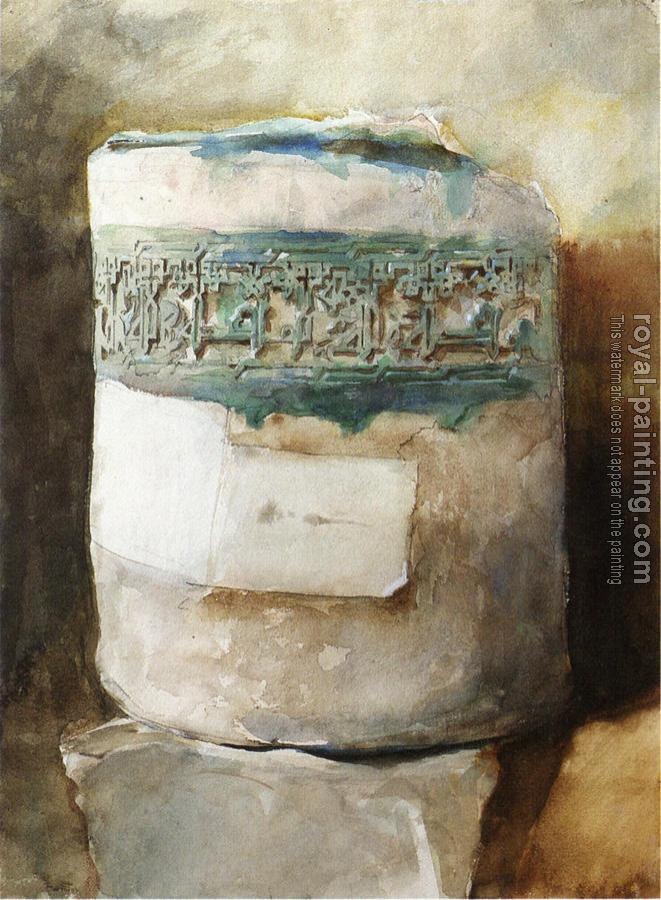 John Singer Sargent : Persian Artifact with Faience Decoration