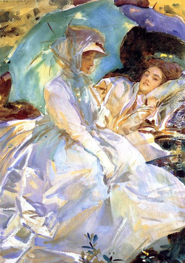 John Singer Sargent : Simplon Pass,Reading