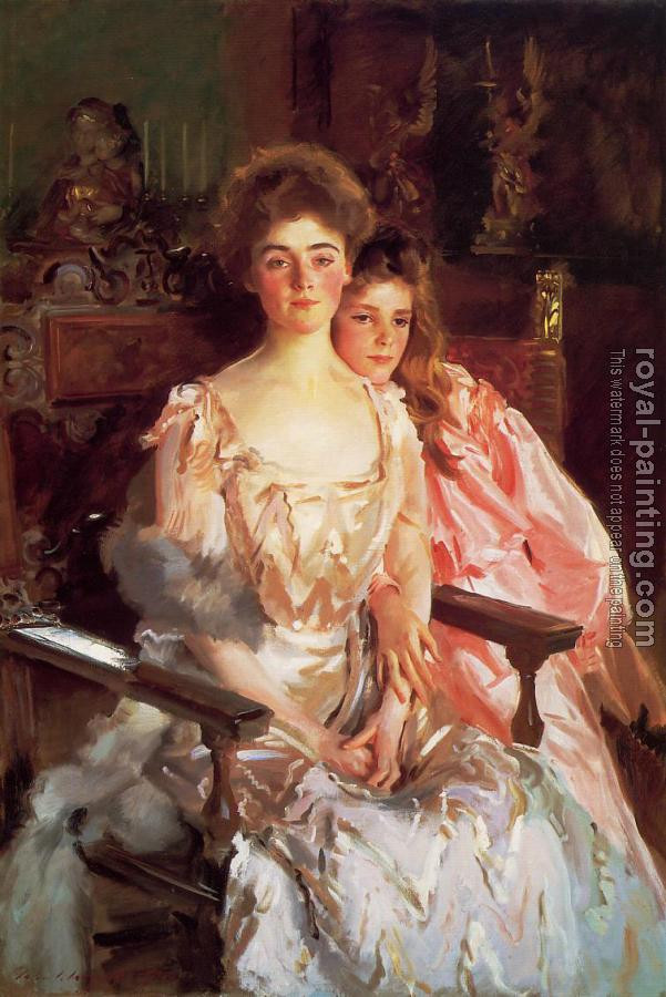 John Singer Sargent : Mrs. Fiske Warren and Her Daughter Rachel