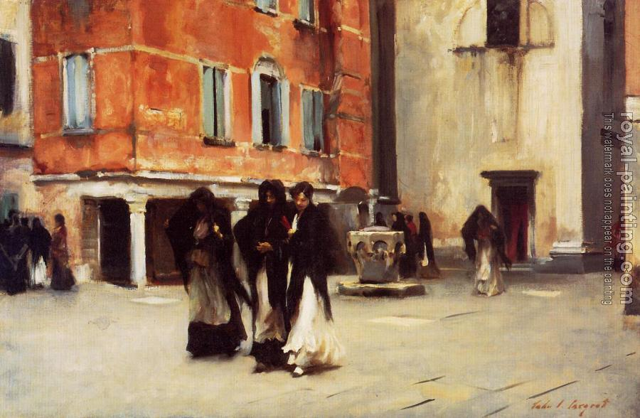 John Singer Sargent : Leaving Church, Campo San Canciano, Venice