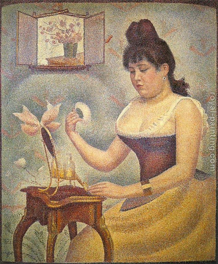 Georges Seurat : Young Woman Powdering Herself