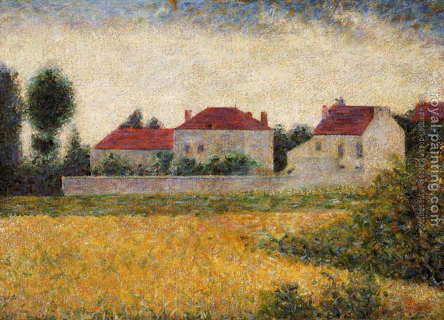 Georges Seurat : White Houses, Ville d'Avray