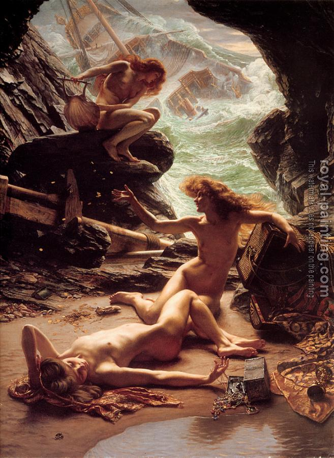 Sir Edward John Poynter : The Cave of the Storm Nymphs