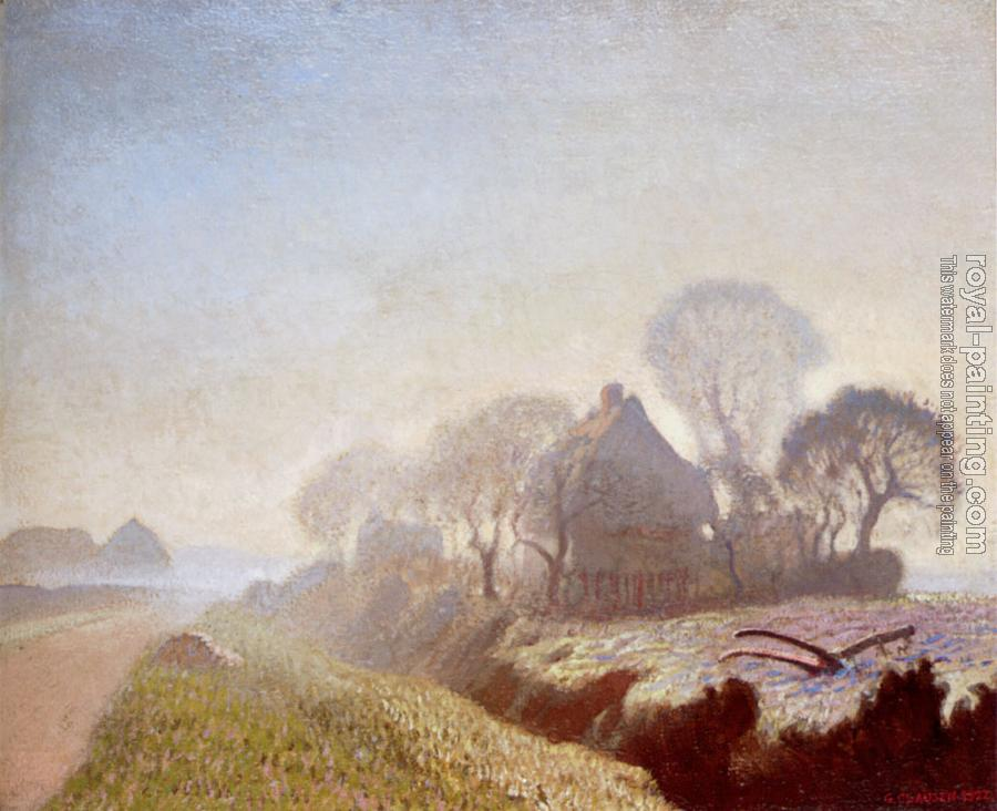Sir George Clausen : Morning In November