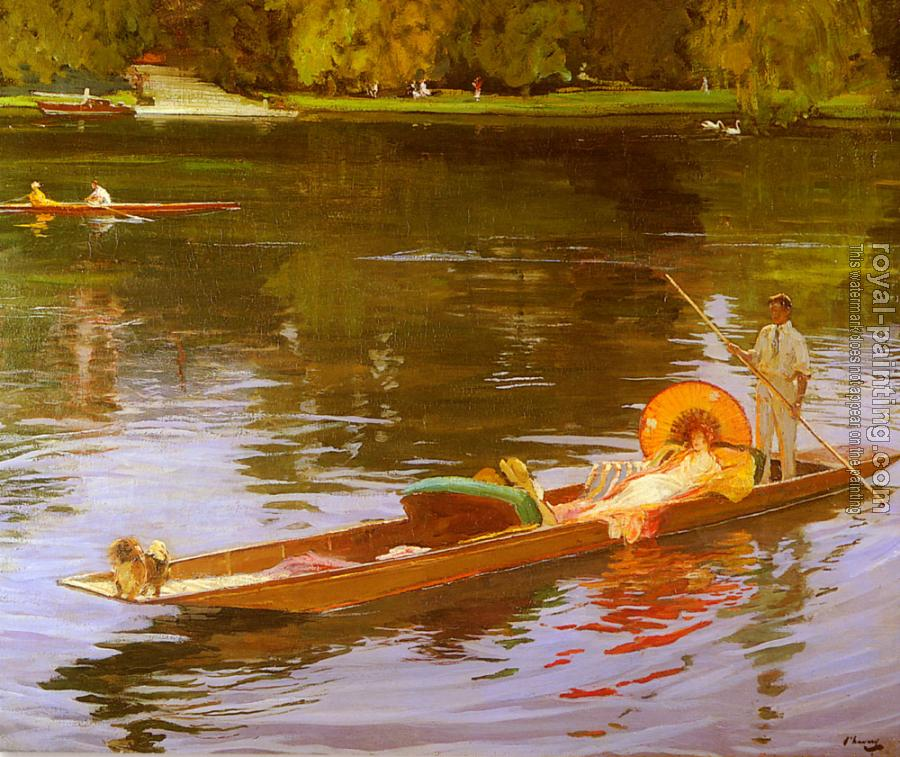 Sir John Lavery : Boating On The Thames