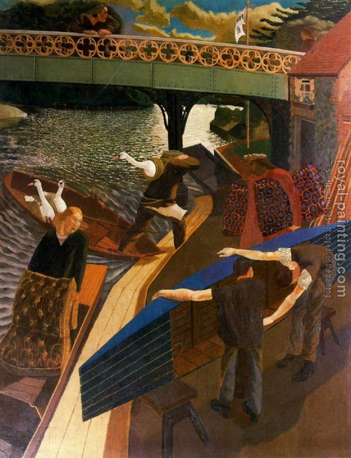 Stanley Spencer : Swan Upping at Cookham