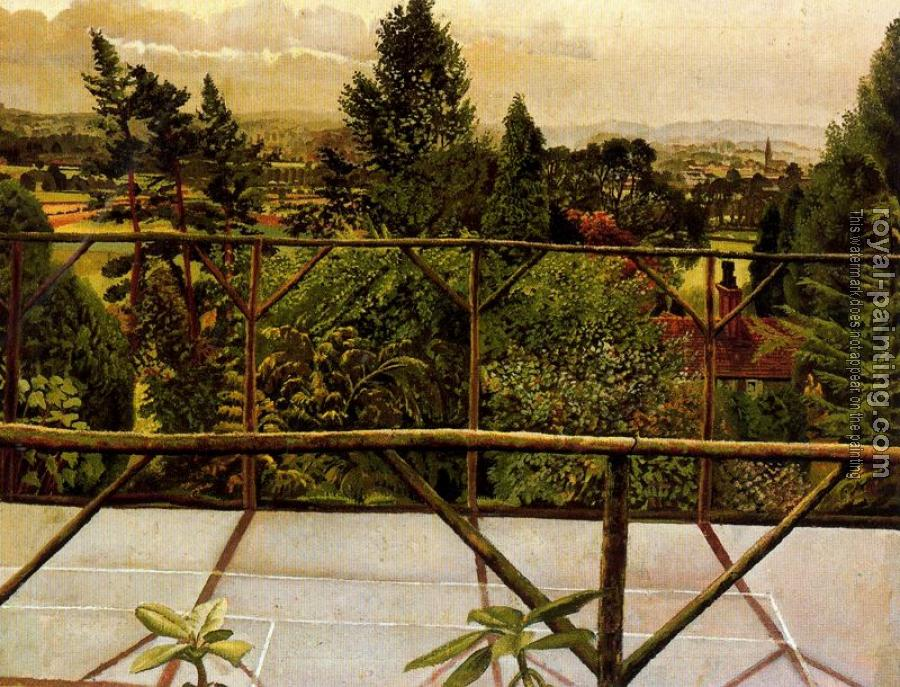 Stanley Spencer : View From the Tennis Court, Cookham