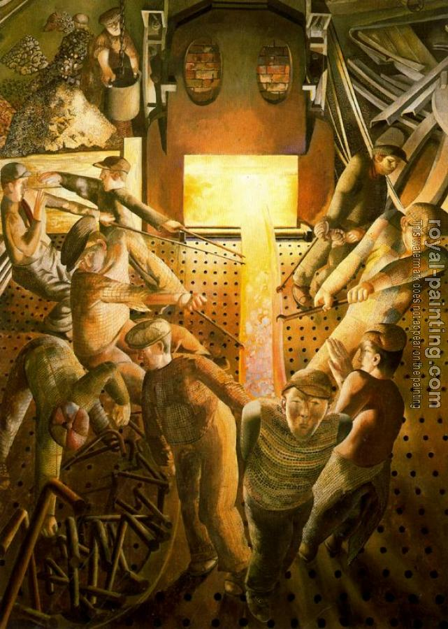 Stanley Spencer : Shipbuilding On the Clyde Furnaces