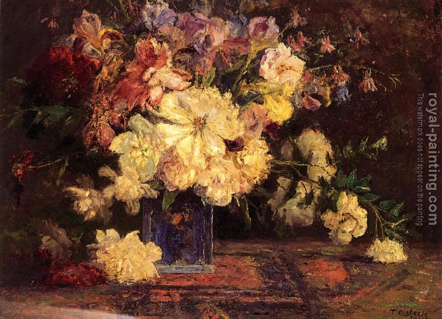 Theodore Clement Steele : Still Life with Peonies