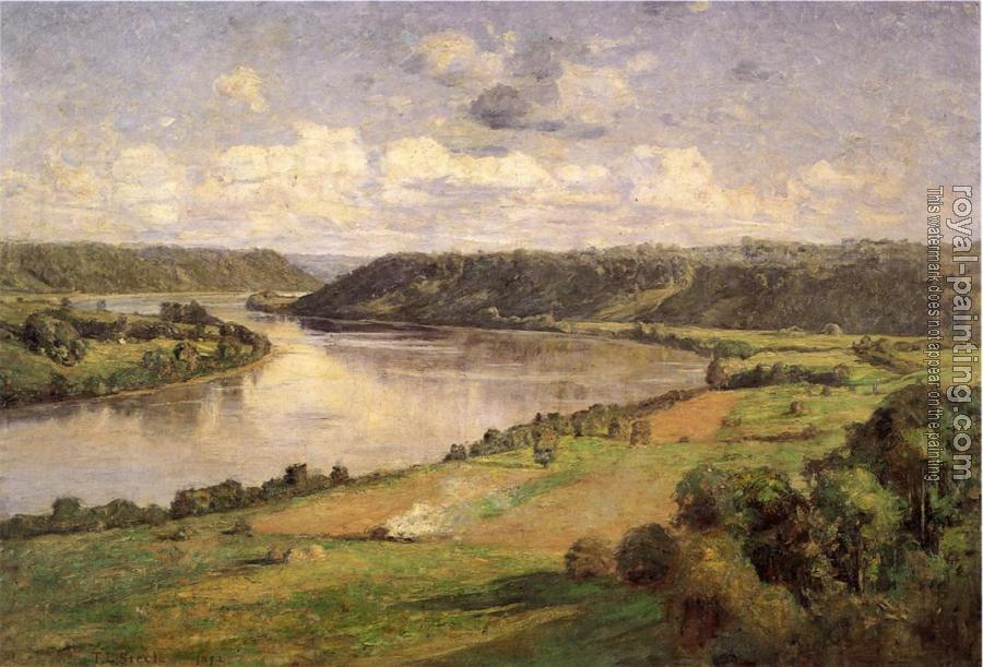 Theodore Clement Steele : The Ohio river from the College Campus, Honover