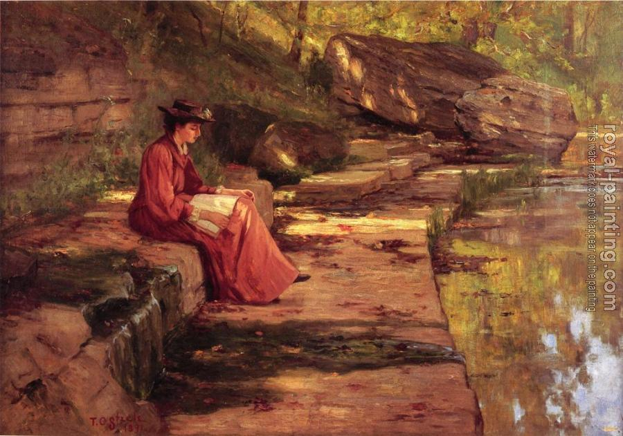 Theodore Clement Steele : Daisy by the River