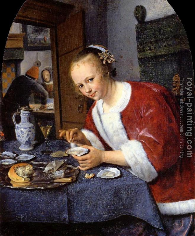 Jan Steen : Girl Offering Oysters