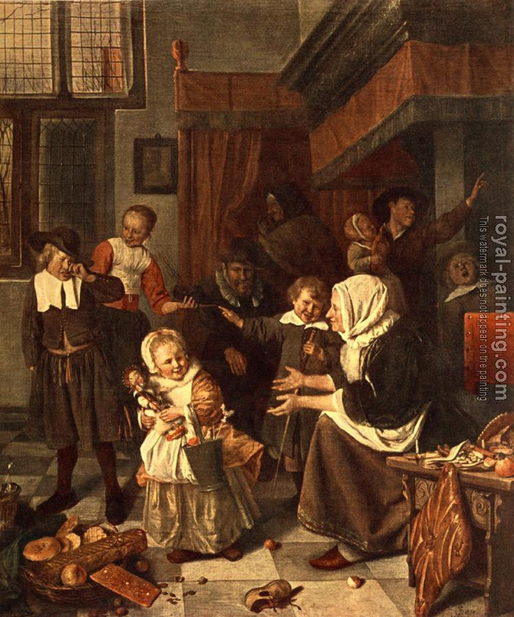 Jan Steen : The Feast of St. Nicholas