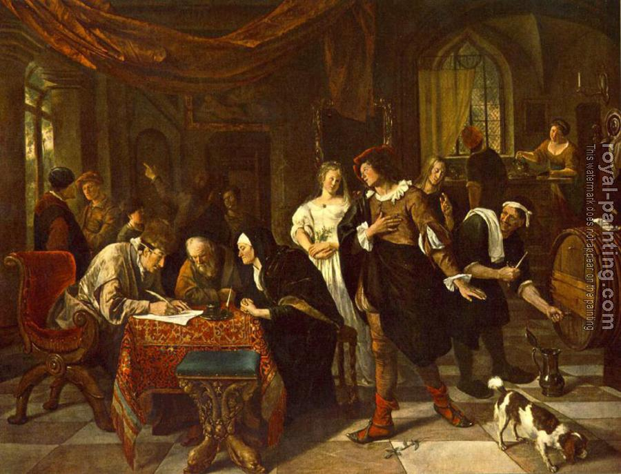 Jan Steen : The Marriage
