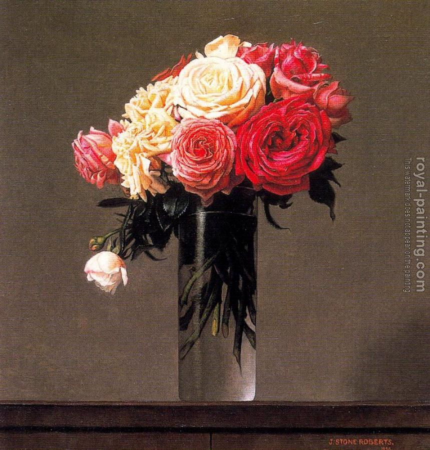 Stone Roberts : Roses in a vase