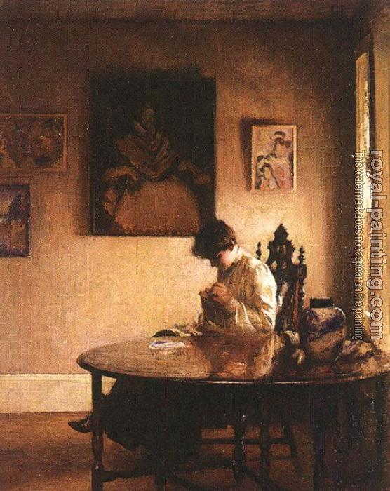 Edmund Charles Tarbell : Girl Crocheting