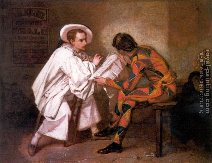 Thomas Couture : Harlequin and Pierrot
