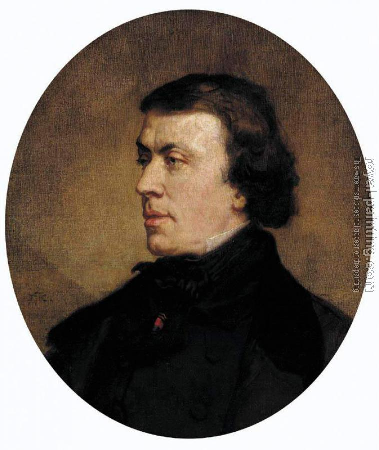 Thomas Couture : Portrait of Philip Ricord