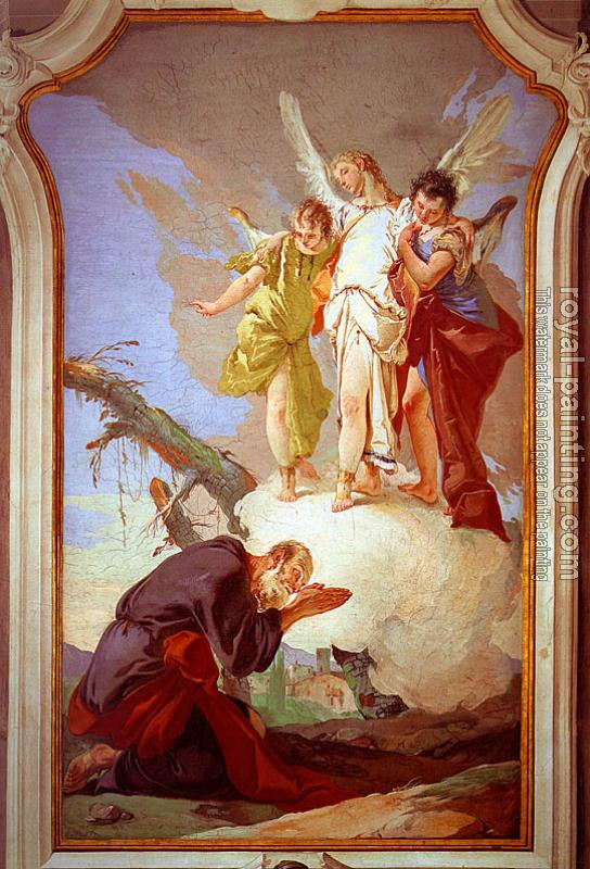 Giovanni Battista Tiepolo : The Three Angels Appearing to Abraham