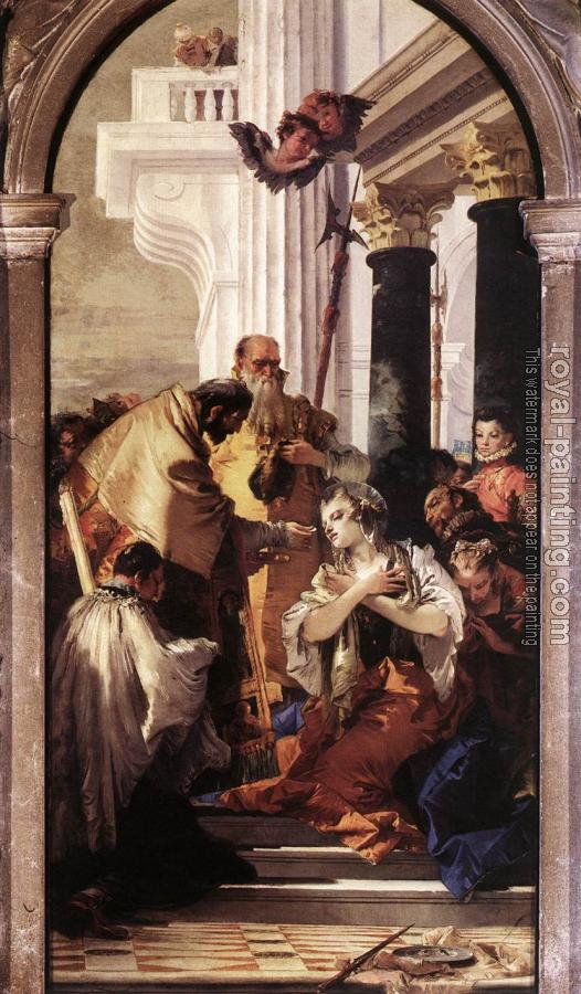 Giovanni Battista Tiepolo : Last Communion of St Lucy
