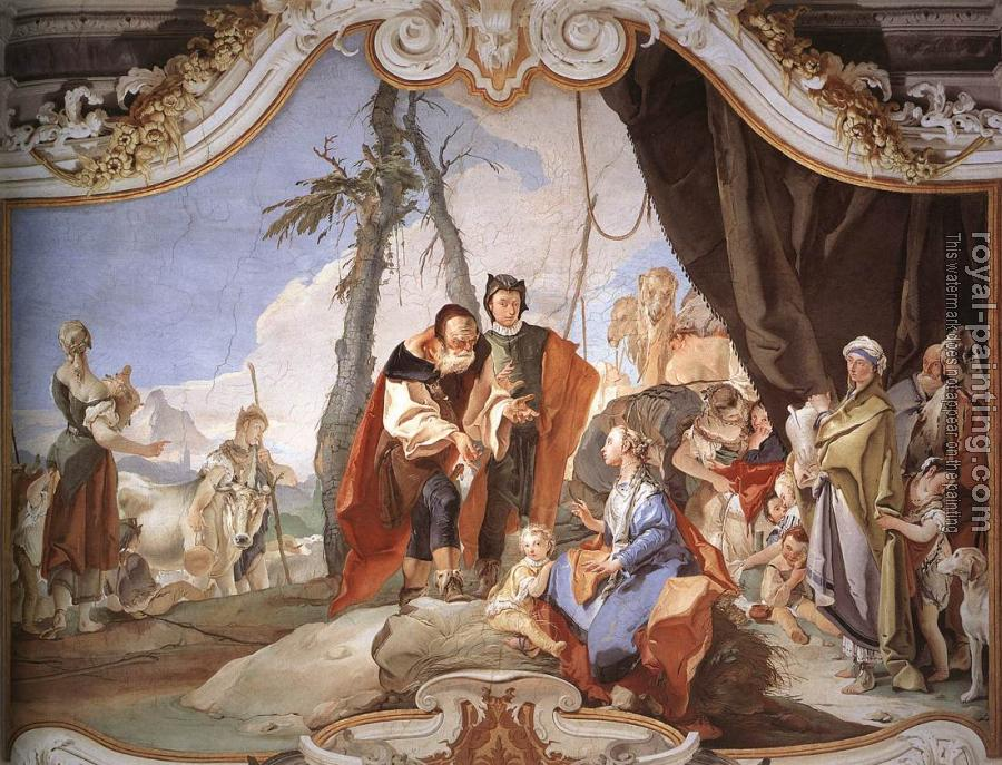 Giovanni Battista Tiepolo : Patriarcale Rachel Hiding the Idols from her Father Laban
