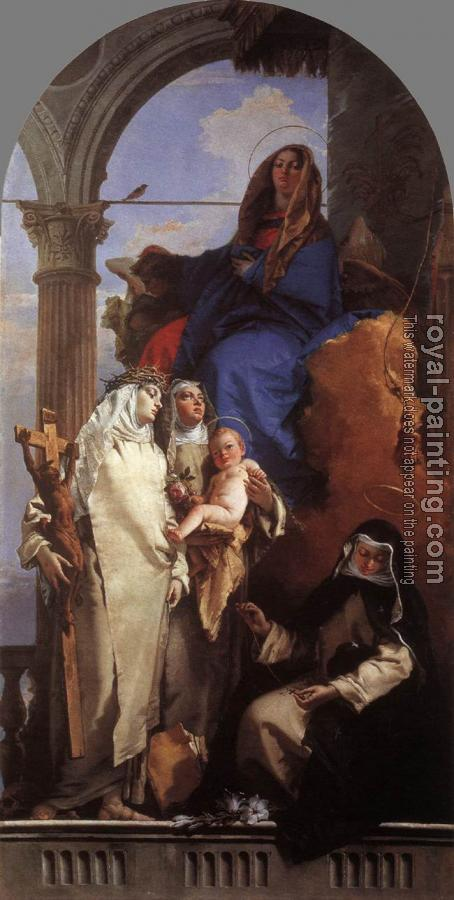 Giovanni Battista Tiepolo : The Virgin Appearing to Dominican Saints