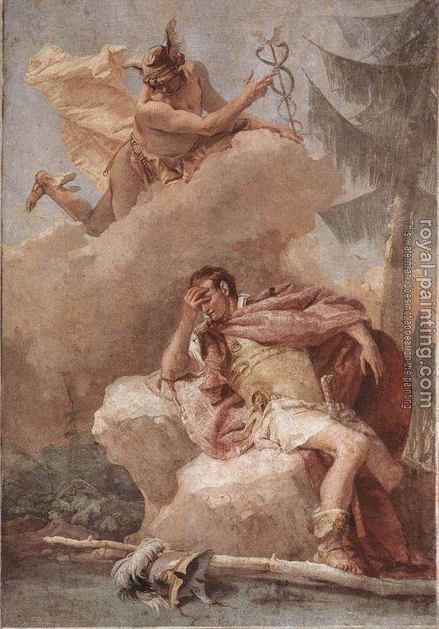 Giovanni Battista Tiepolo : Villa Valmarana Mercury Appearing to Aeneas
