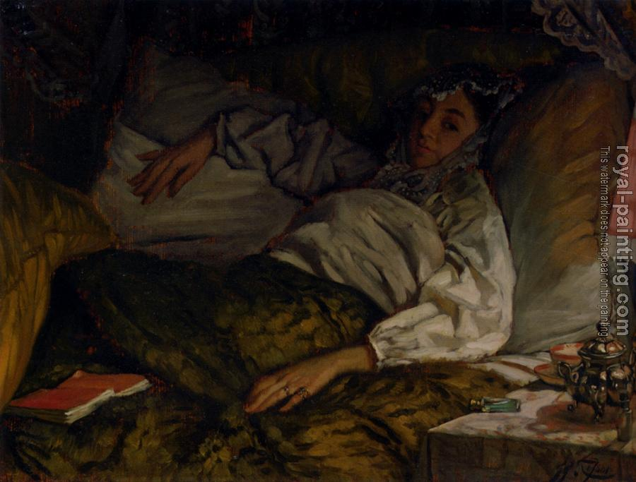 James Tissot : A Reclining Lady