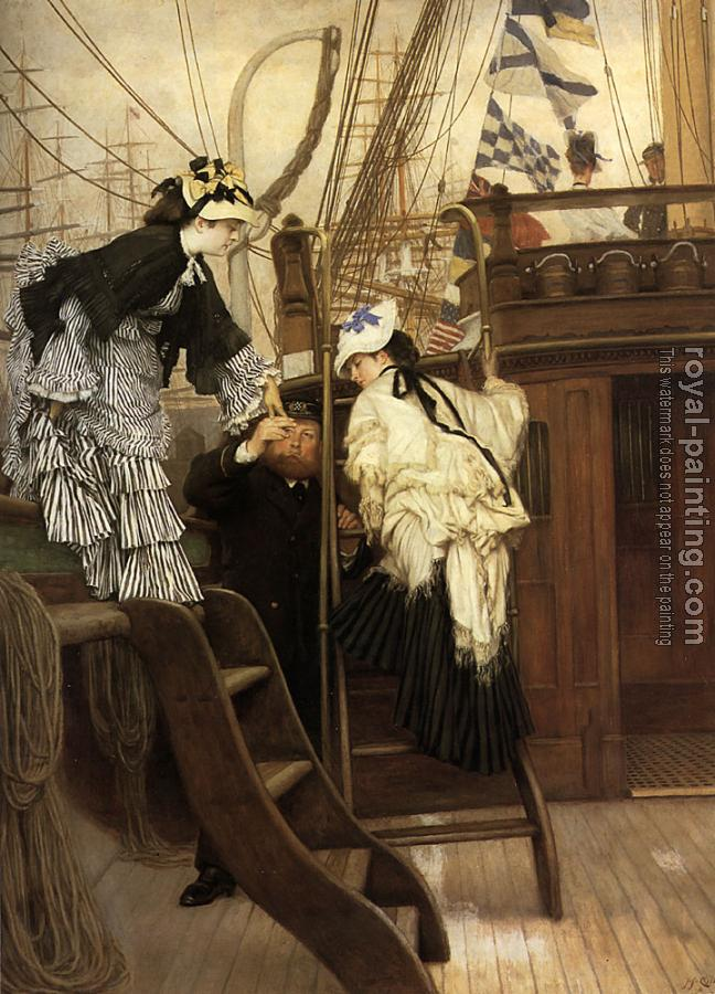 James Tissot : Boarding the Yacht
