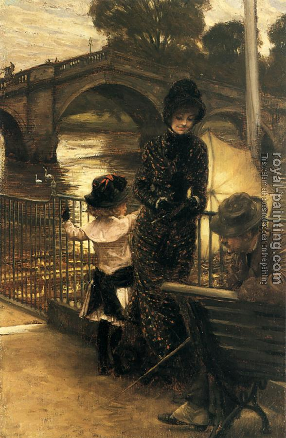 James Tissot : By the Thames at Richmond