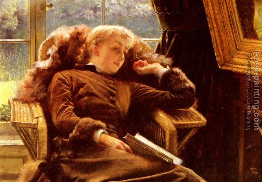 James Tissot : Kathleen Newton In An Armchair