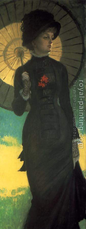 James Tissot : Mrs Newton with a Parasol