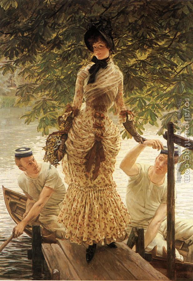 James Tissot : On the Thames