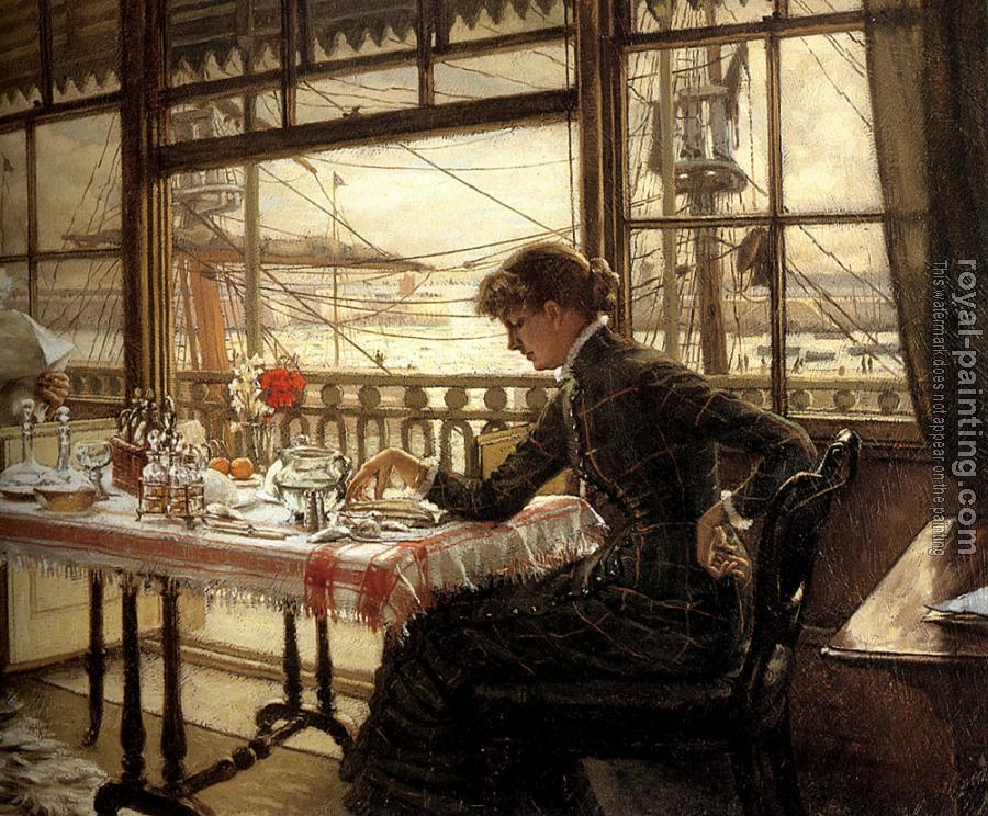 James Tissot : Room Overlooking the Harbour